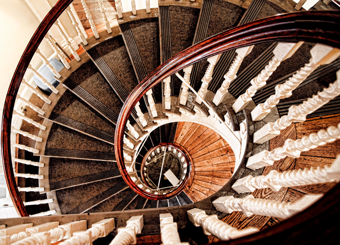 The Spiral Staircase in the Old State House in Boston