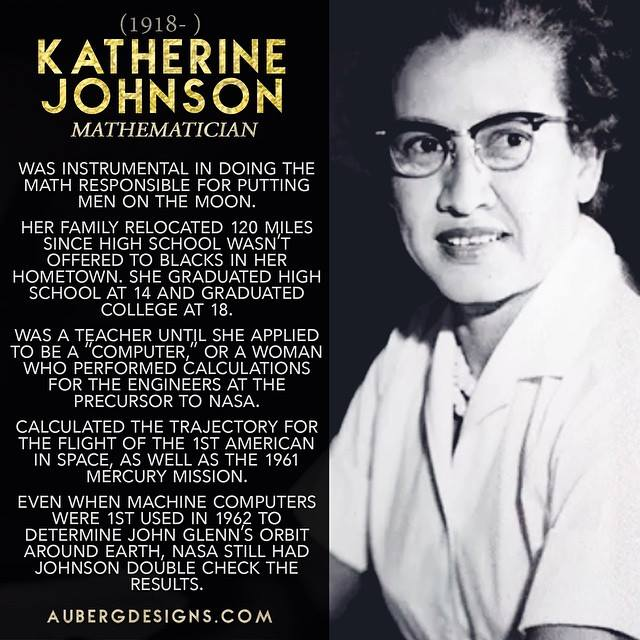 Katherine Johnson Mathematician Math for putting men on the moon