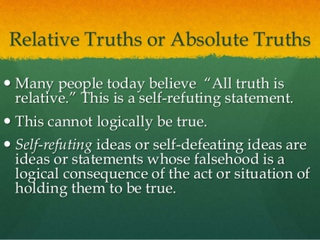relative or absolute truth