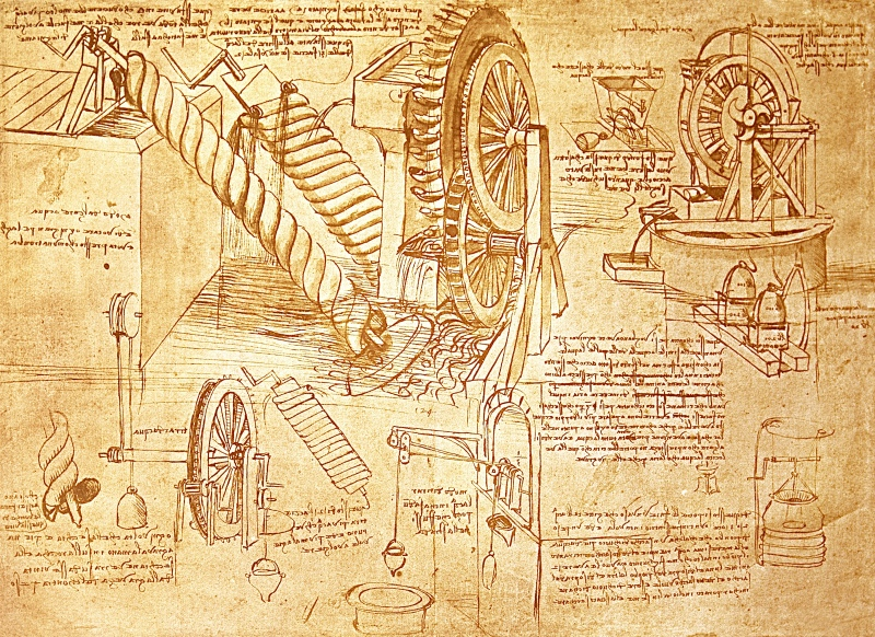 da-vinci-invention illustrations